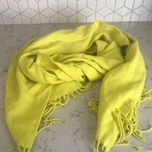 Long Bright Yellow Winter Scarf